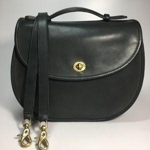 Vintage Coach Round Bottom Crossbody Bag Handbag